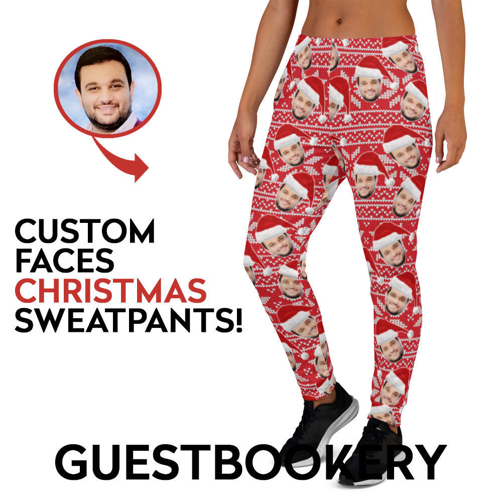 Custom Faces Christmas Sweatpants - Guestbookery