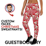 Load image into Gallery viewer, Custom Faces Christmas Sweatpants - Guestbookery
