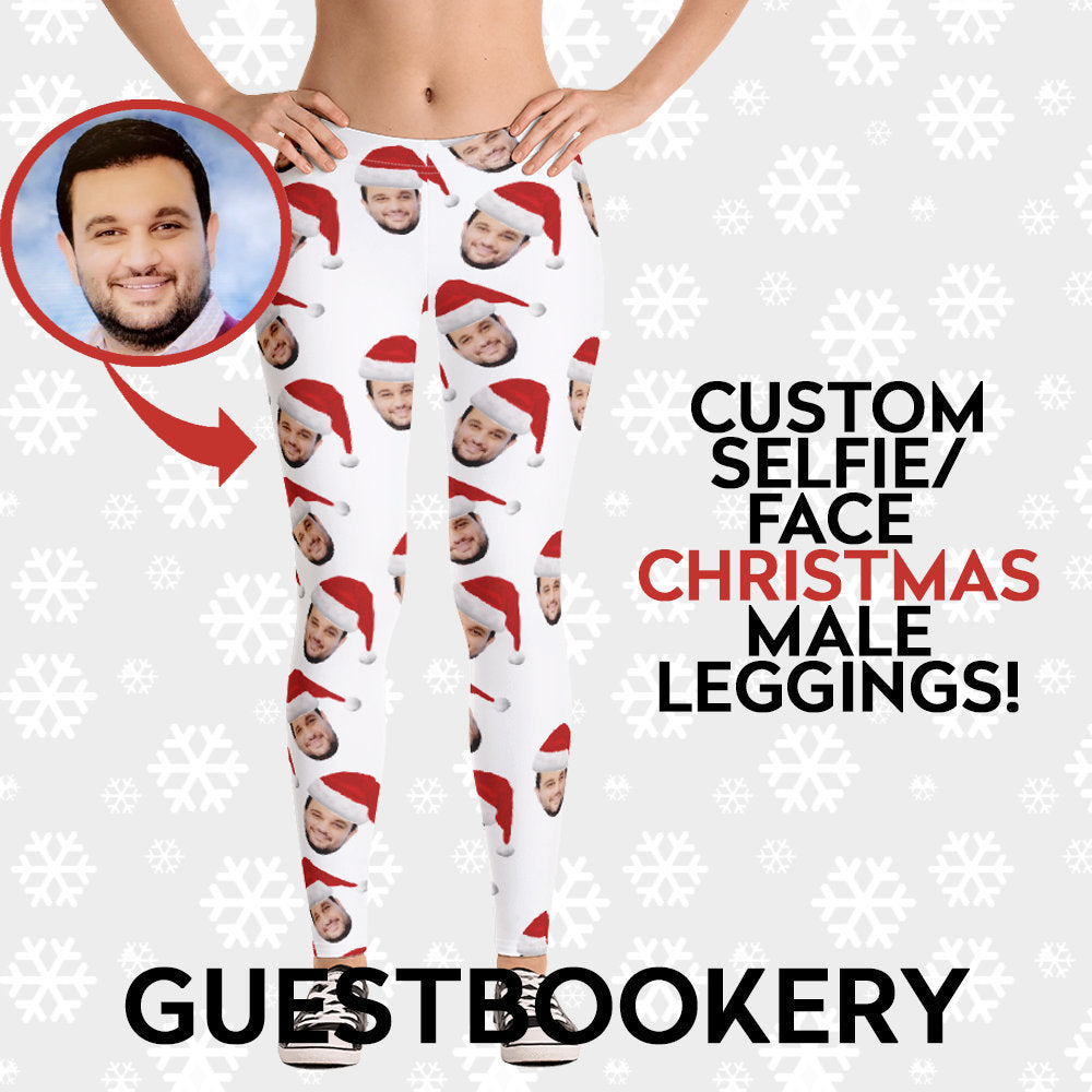 Custom Faces Christmas Leggings - Guestbookery