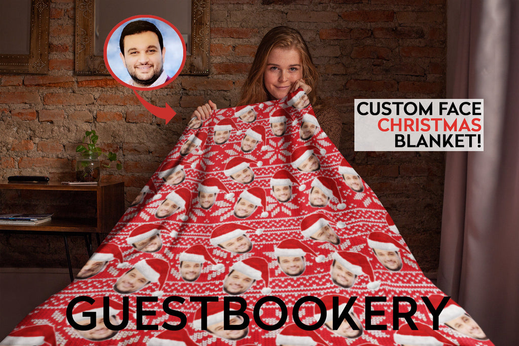 Custom Faces Christmas Blanket - Guestbookery