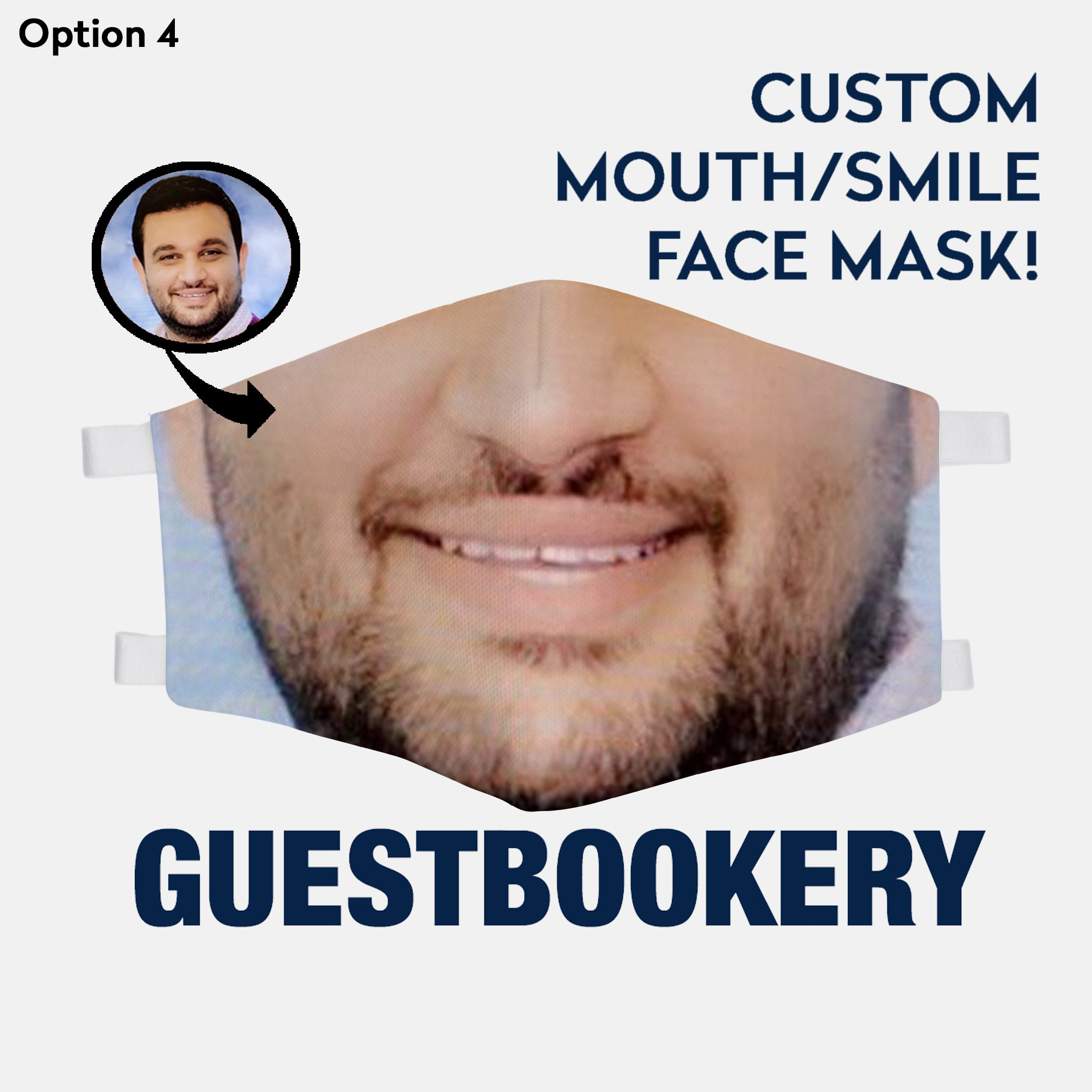 Custom Smile Face Mask - WASHABLE