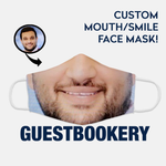 Load image into Gallery viewer, Custom Face or Mouth WASHABLE Face Mask - Guestbookery