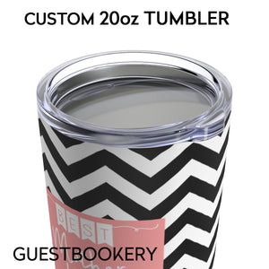 Personalized Bridesmaid TUMBLER 20oz - Guestbookery