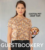 Load image into Gallery viewer, Custom Pet Faces Crop Top