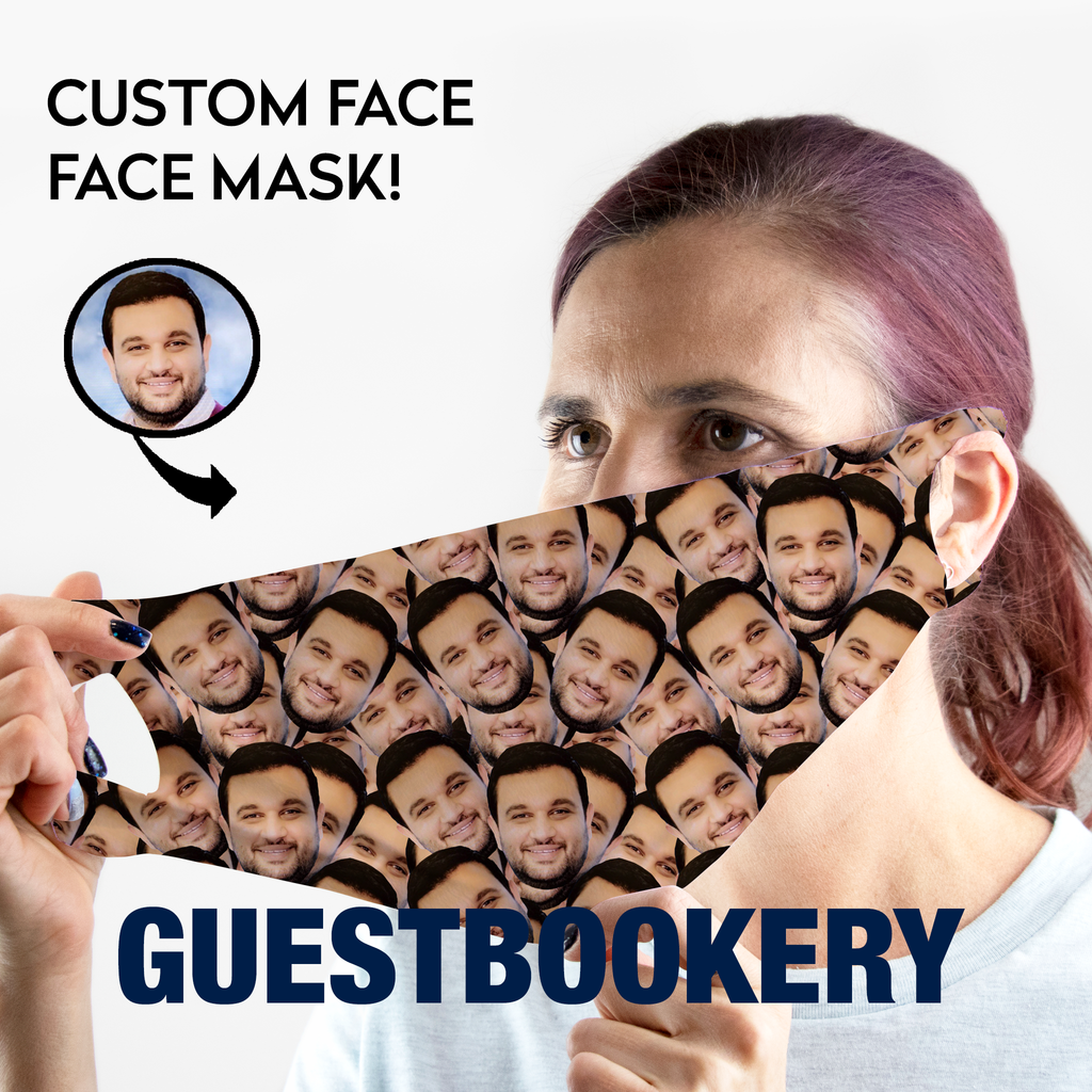 Custom Faces WASHABLE Face Mask - Guestbookery