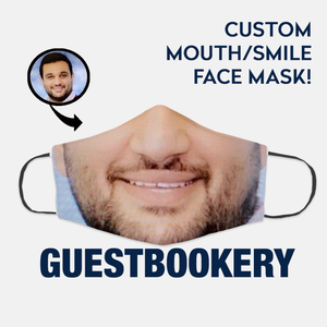 Custom Face or Mouth WASHABLE Face Mask - Guestbookery