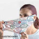 Load image into Gallery viewer, Travel Stamps WASHABLE Face Mask - Guestbookery