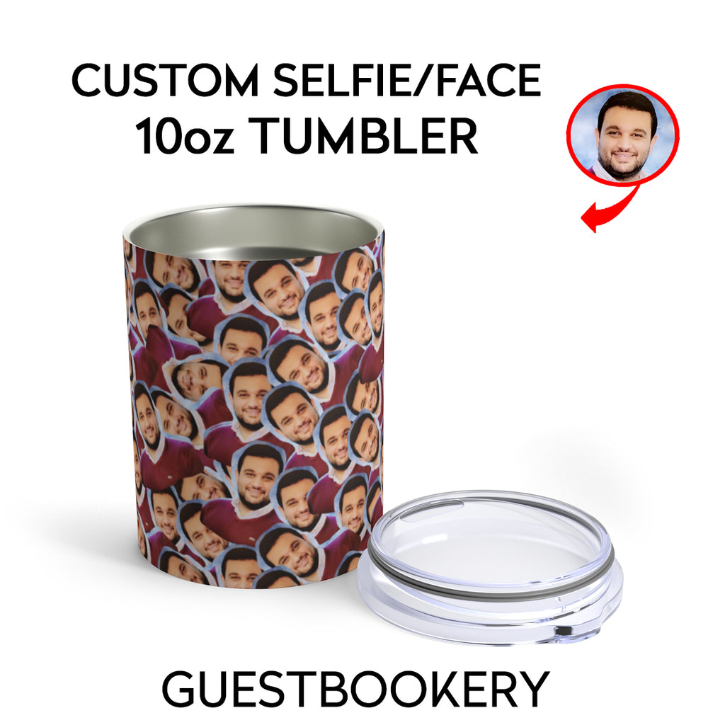 CUSTOM FACES 10oz TUMBLER - Guestbookery