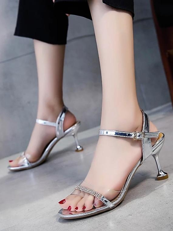 14b9ce0a9f3d SHOES 35   SILVER THE SILVER SHIMMER HEELS ...
