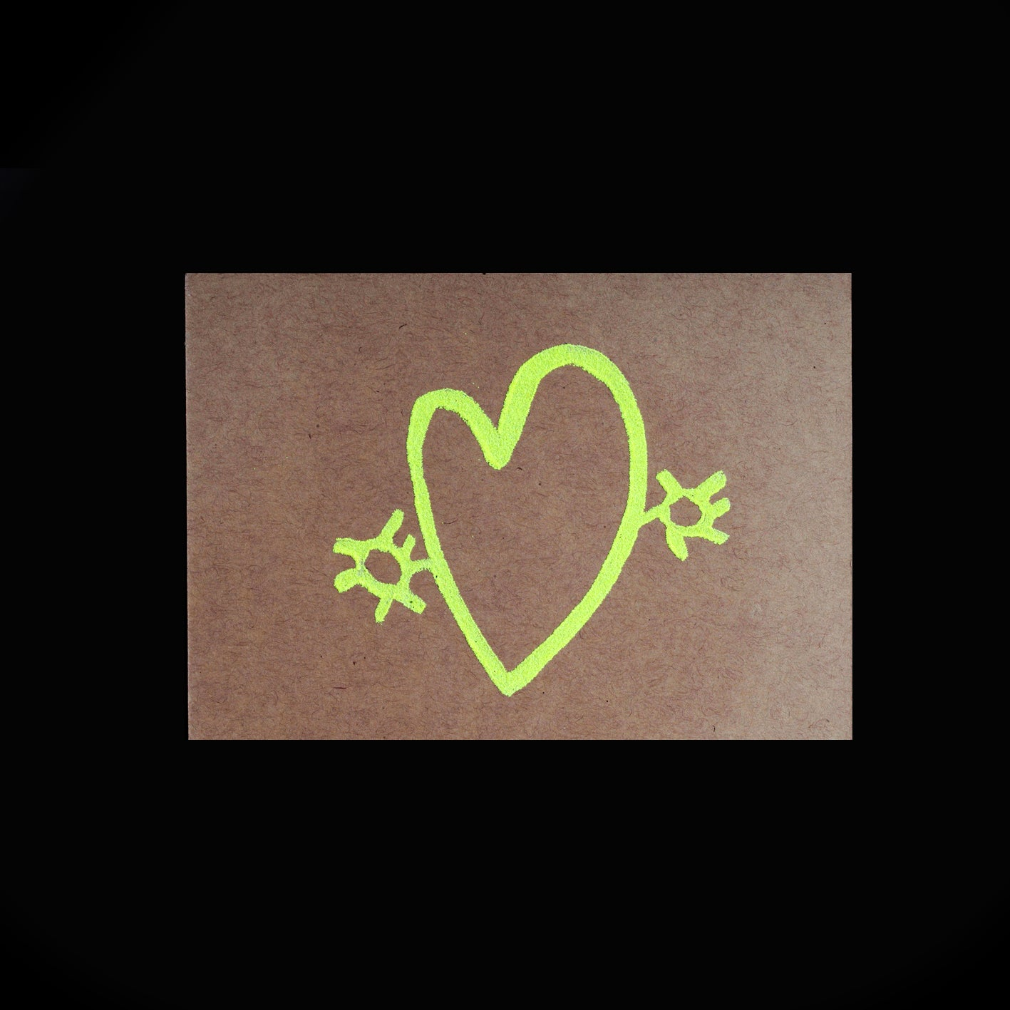 M & K Heart Notecard