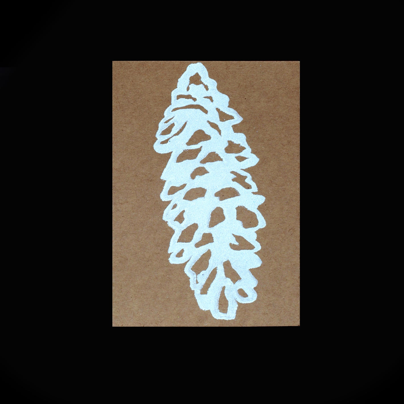 Pinecones Folded Card