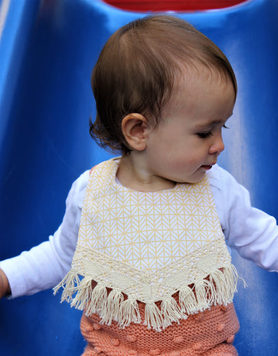 Aww Fall Geometric bib