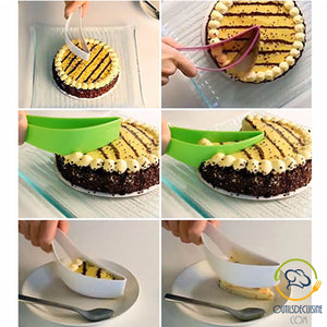 Our partner Audrey tested the cake slicer