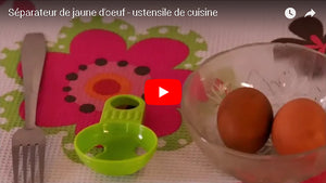 Video demonstration of the egg yolk separator