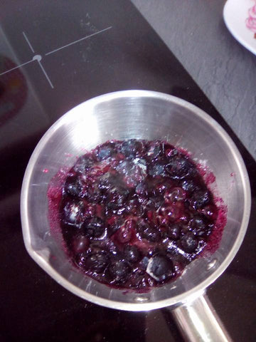 Recipe of blueberry jam
