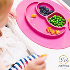 silicone smiley baby plate