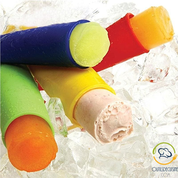 5 Silicone Ice Cream Stick Molds For Kids Ice Cream Mold