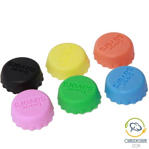 Practical and Ingenious Accessories - Lot Of 6 Silicone Bottle Stoppers (Beers, Waters, Sodas, Wines ...)