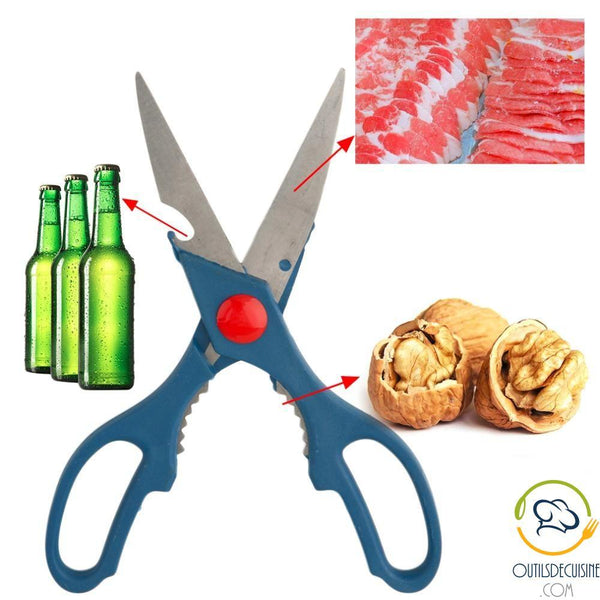 3 Multifunction Kitchen Scissors In 1: Bottle Opener, Nutcracker, Kitchen Knife