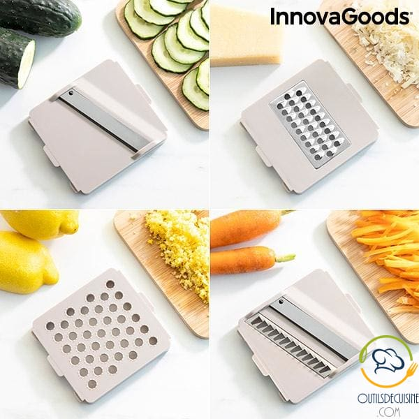 Innovagoods Choppie Expert Grater And Mandolin Vegetable Cutter With Recipes Accessories 7 In 1