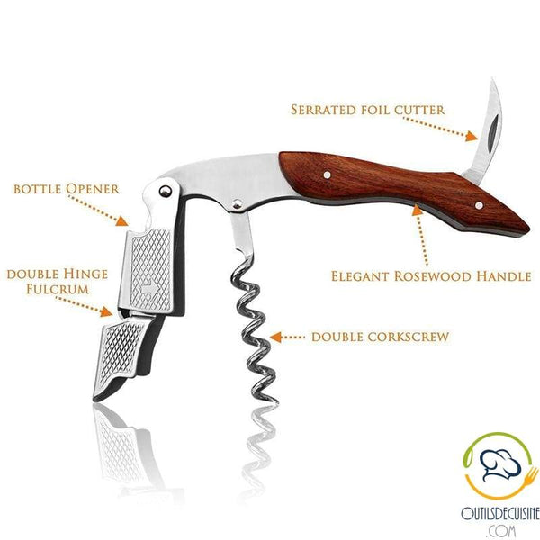 Multifunctional Pocket Knife With Wooden Handle
