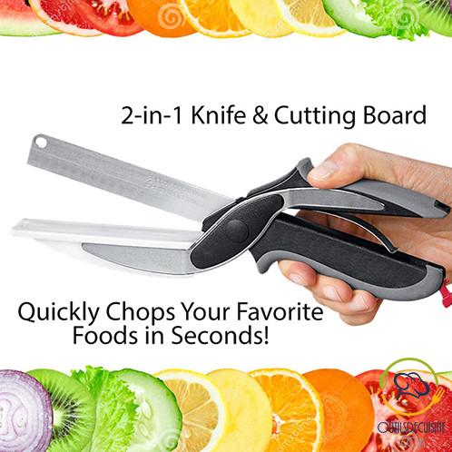 Knife - Clip Kitchen Knife Cutting Board 2 En1 - Clever Cutter