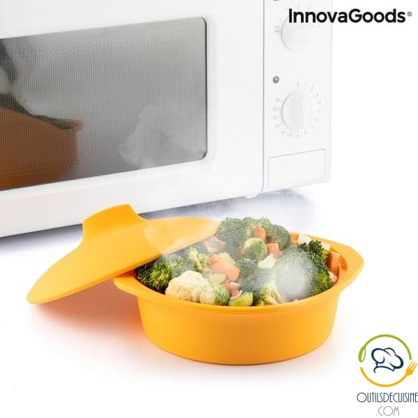 Multifunction Silicone Steamer With Silicotte Recipes Innovagoods