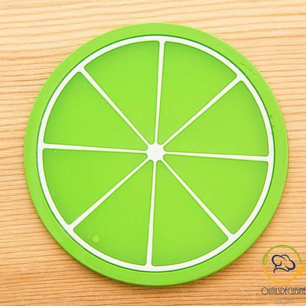 Coaster Colorful Silicone Fruit Coaster