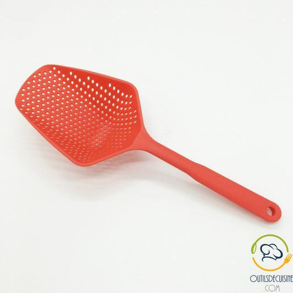 Silicone Long Handle Skimmer - Draining Spoon