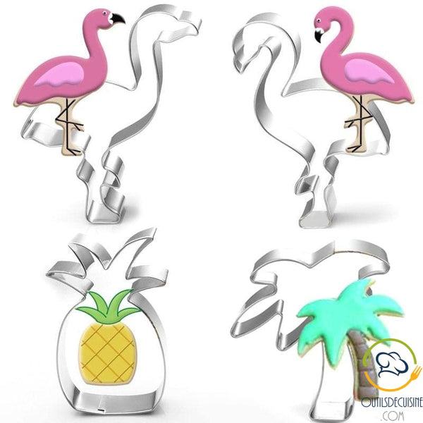 Pineapple And Palm Tree Flamingo Cookie Cutter
