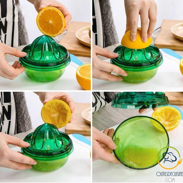 All-In-One Kitchen Gadget: Bowl, Covered Tray, Orange Press, Vegetable Cutter, Vegetable Grater, Colander, Lemon Squeegee