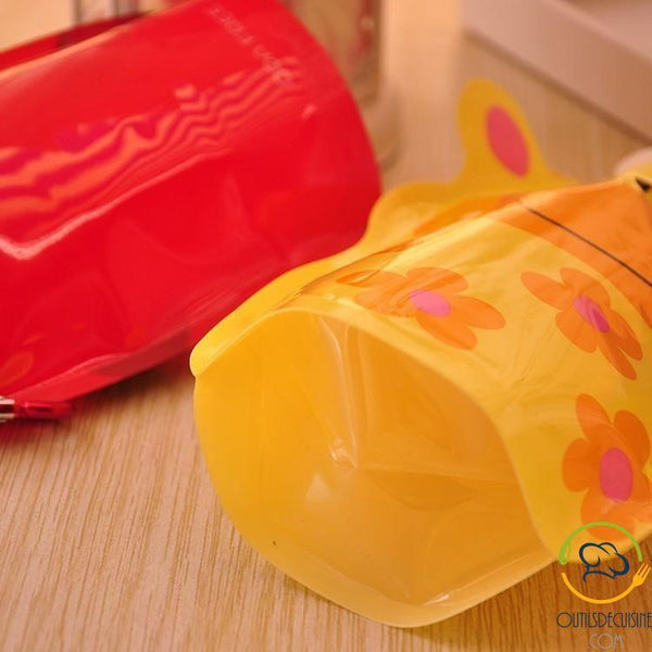 Foldable and Reusable Gourds for Kids with Animal Pattern