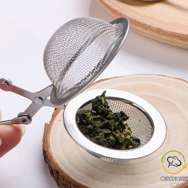 Tea Infuser With Mini Strainer Stainless Steel