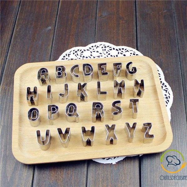 Lot Of 26 Alphabet Letters - Stainless Cutter For Biscuit And Sugar Paste Decoration
