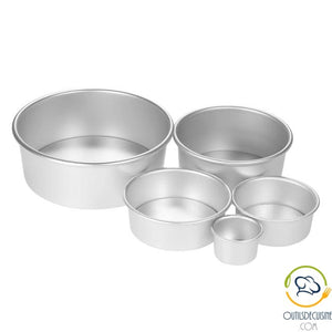 Lot De 5 Moules Amovibles En Aluminium 5Pcs