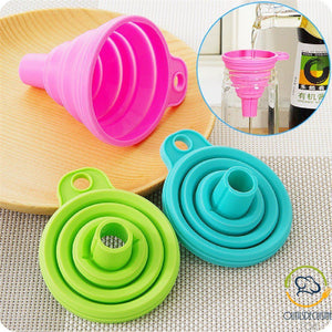 Mini Funnel Silicone Retractable To Pour Liquid