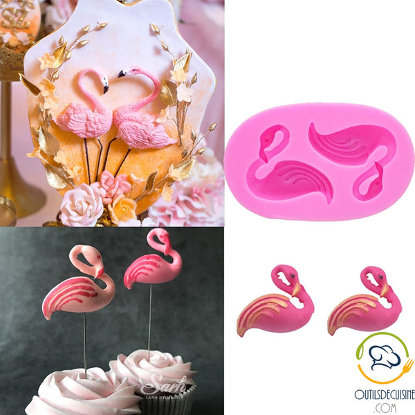 3D Pink Flamingo Silicone Mold