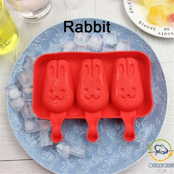 Silicone Ice Mold With 20 Rabbit Sticks