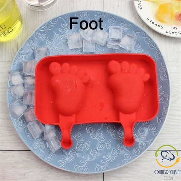 Silicone Ice Mold With 20 Foot Sticks