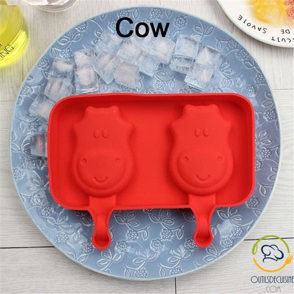 Silicone Ice Mold With 20 Cow Sticks