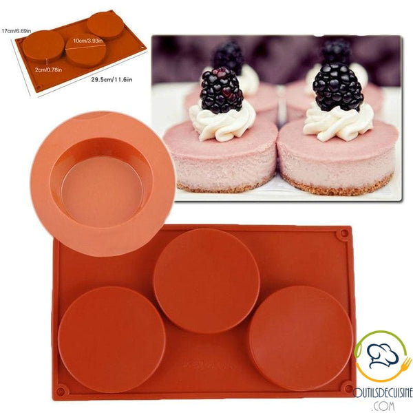 Pastry Mold with 3 Silicone Cavities