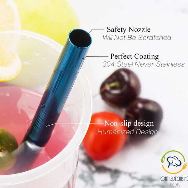 Reusable Colored Straws In Stainless
