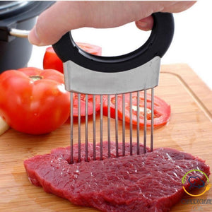 Fork Holder For Slicing Vegetable Or Meat Slices