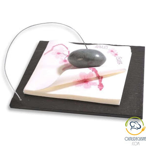 Slate Napkin Holder 22X22 Cm With Pebble Tableware - Culinary Articles