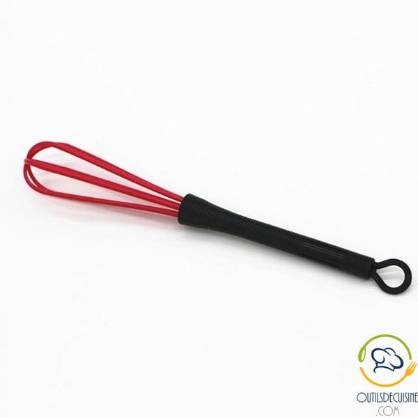 Red Plastic Kitchen Whisk