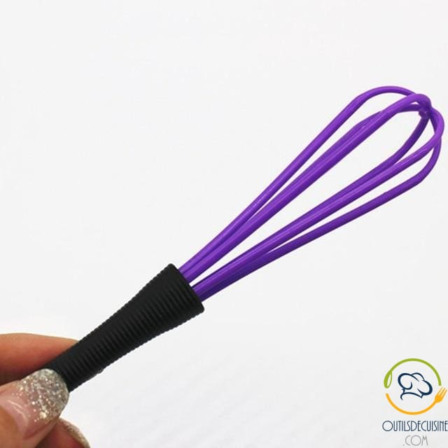 Purple Plastic Kitchen Whisk