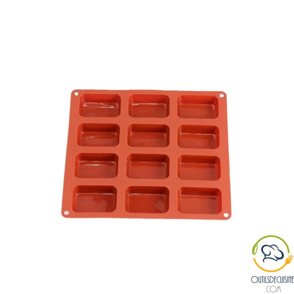 Rectangle Cake Mold 12 Silicone Cavities