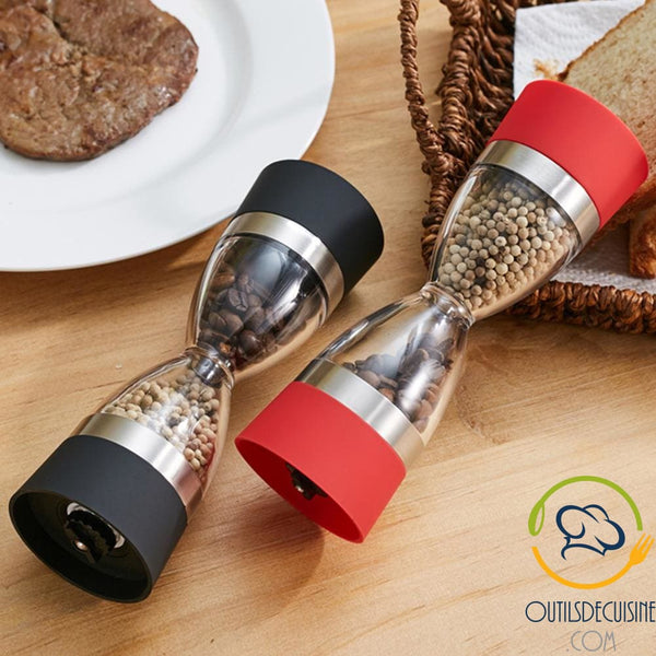 Hourglass Kitchen Salt & Pepper Mill