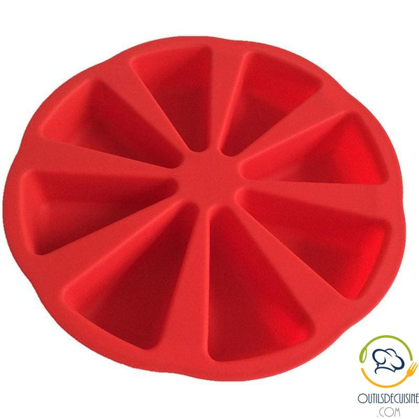 Silicone Round Cake Mold 8 Triangular Portions
