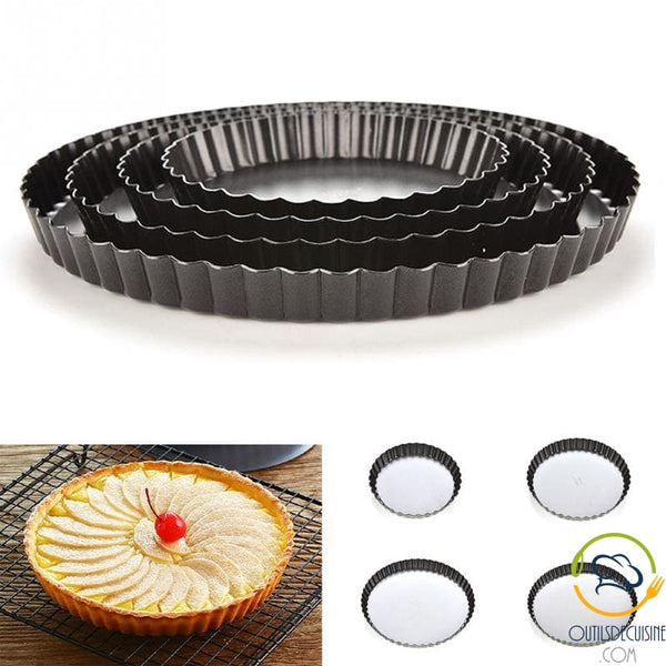 Round Non-Stick Pie / Quiche Mold with Removable Background